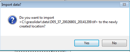 Import file dialog