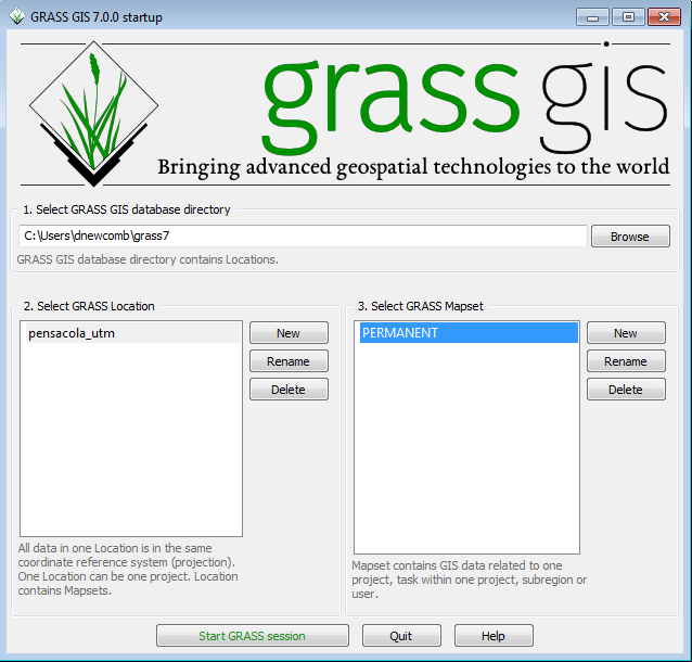 Introduction to GRASS GIS with terrain analysis examples