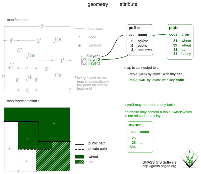 cats and layers in GRASS GIS