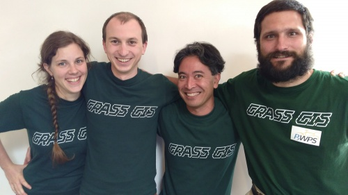GRASS GIS 7 sprint team at FOSS4G 2017, Boston