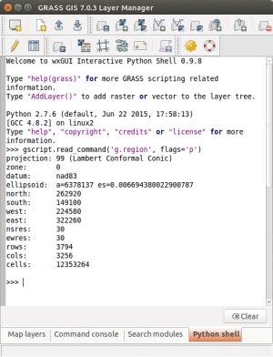 Using GRASS GIS through Python and tangible interfaces