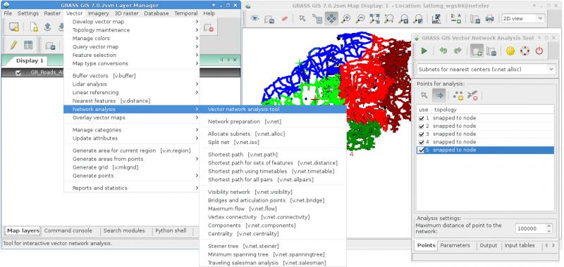 WxGUI Vector Network Analysis Tool - GRASS-Wiki
