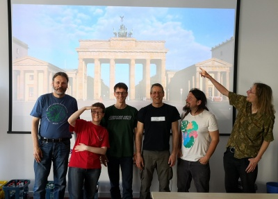 GRASS GIS community sprinters at DIW Berlin, 2019