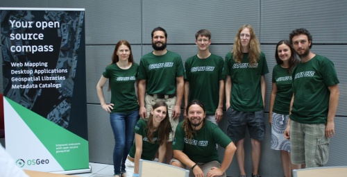 GRASS GIS 7 sprint team at FOSS4G 2017, France