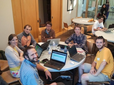 GRASS GIS 7 sprint team at FOSS4G 2014, Portland (OR), USA